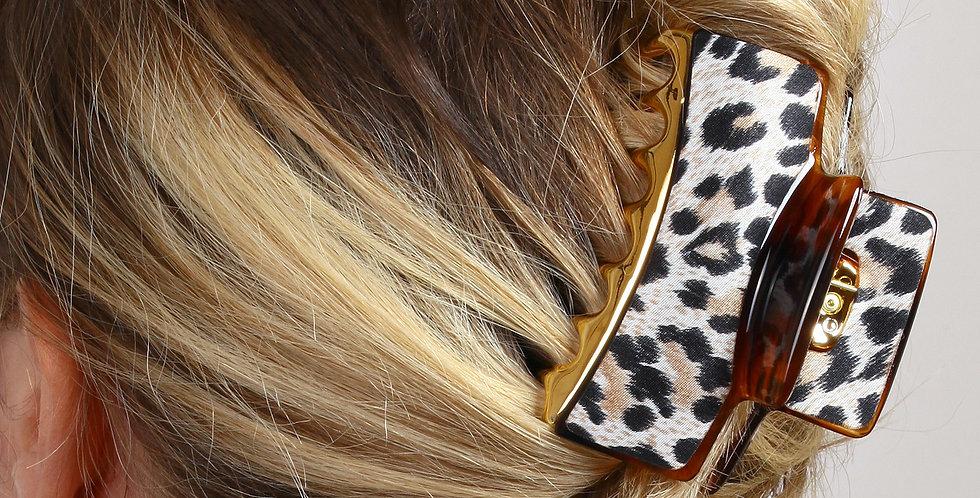 Leopar Desen Saç Tokası