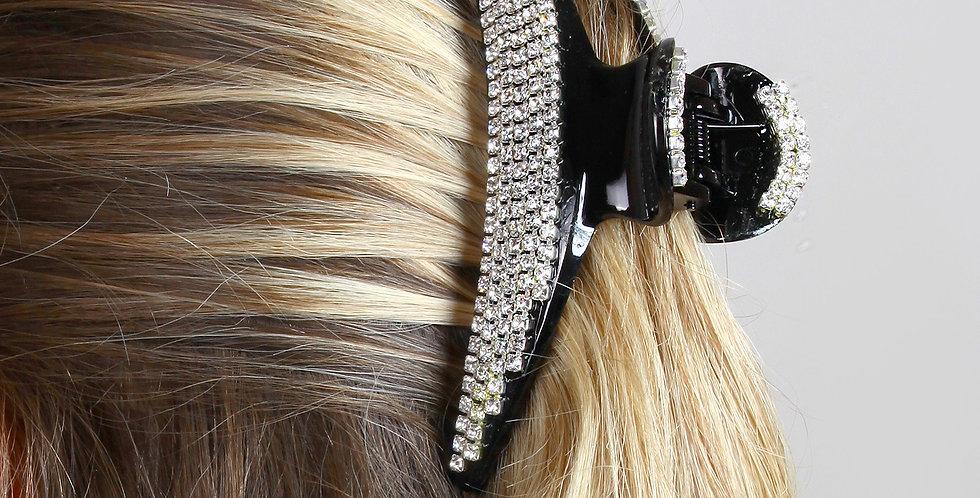 Şerit Cam Taşlı Tutam Saç Tokası