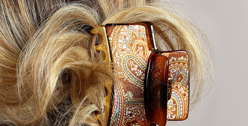 Renkli Tablo Dizayn Tutam Saç Tokası