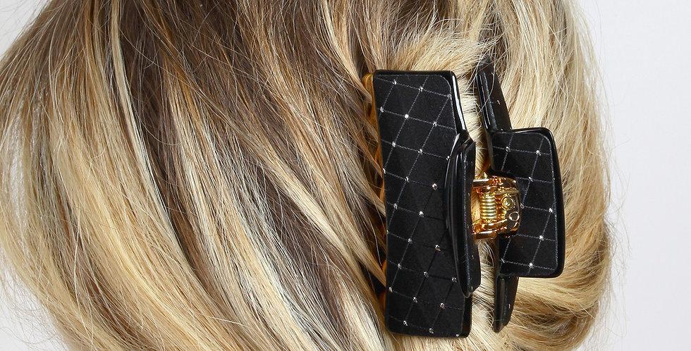 Kumaş Üstü Cam Taş İşlemeli Saç Tokası
