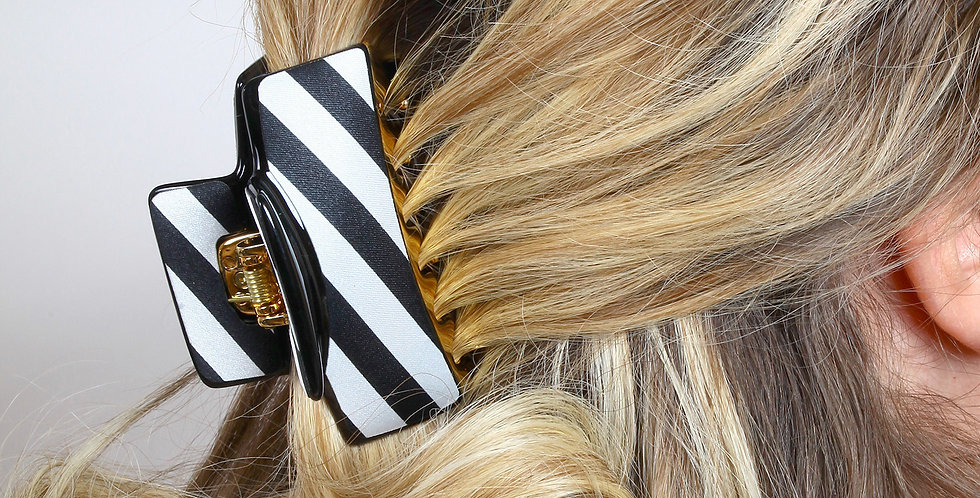 Zebra Desen Gold Detay Saç Tokası