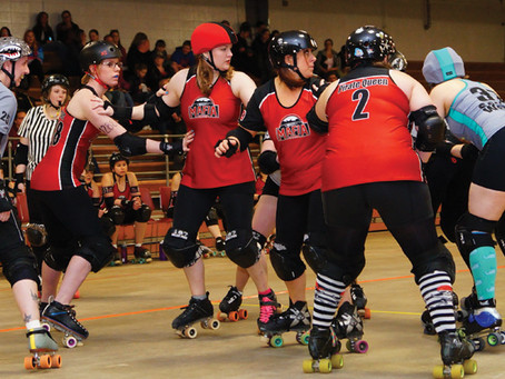 Roller derby is fun on wheels