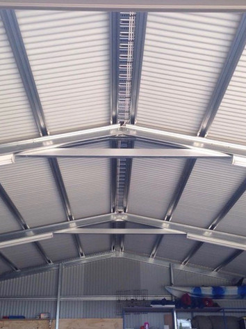 Domestic Shed Installations - use of cable tray to remove exposed conduit.