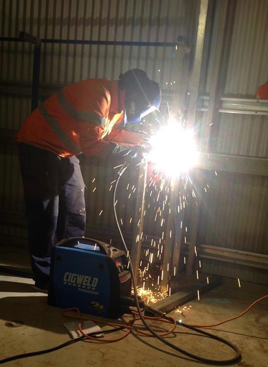 Experience in welding