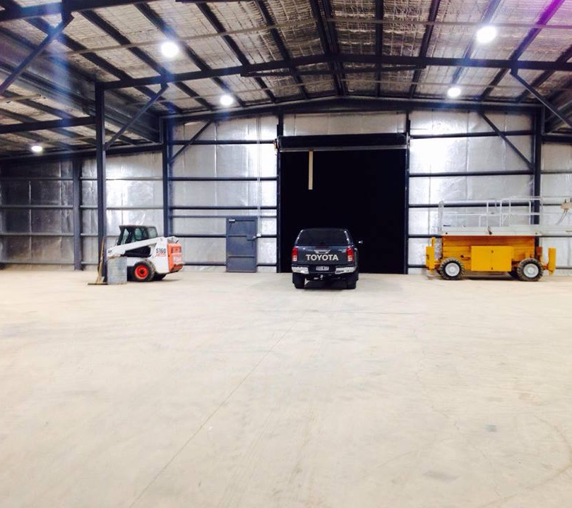 High Bay Industrial lighting installation