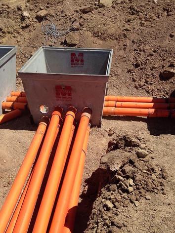 Underground mains work