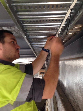 Commercial Cable Tray installation