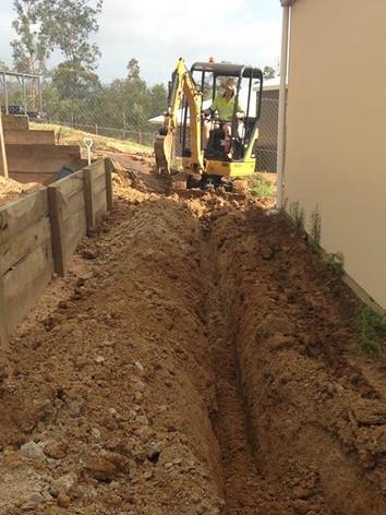 Preparing trenches for condue