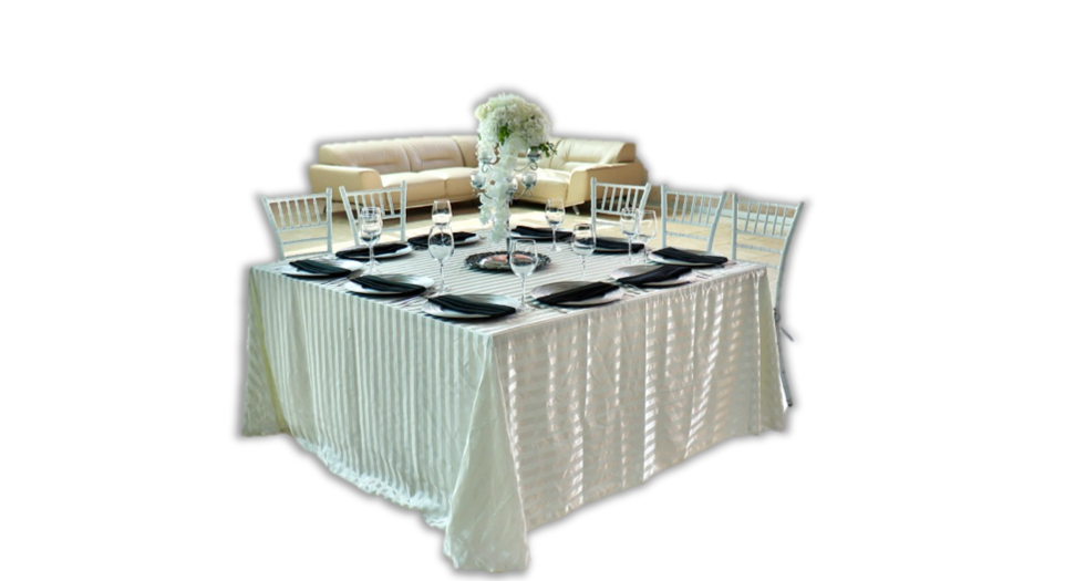 Mantel Rayado Blanco