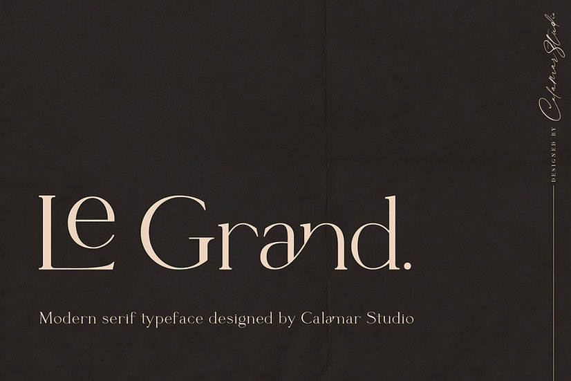 Le Grand | Serif Ligature Font