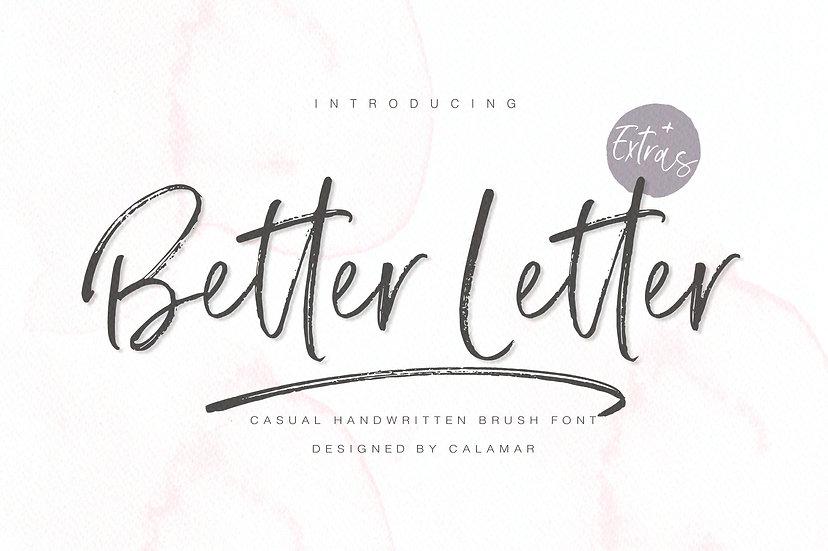 Better Letter Font