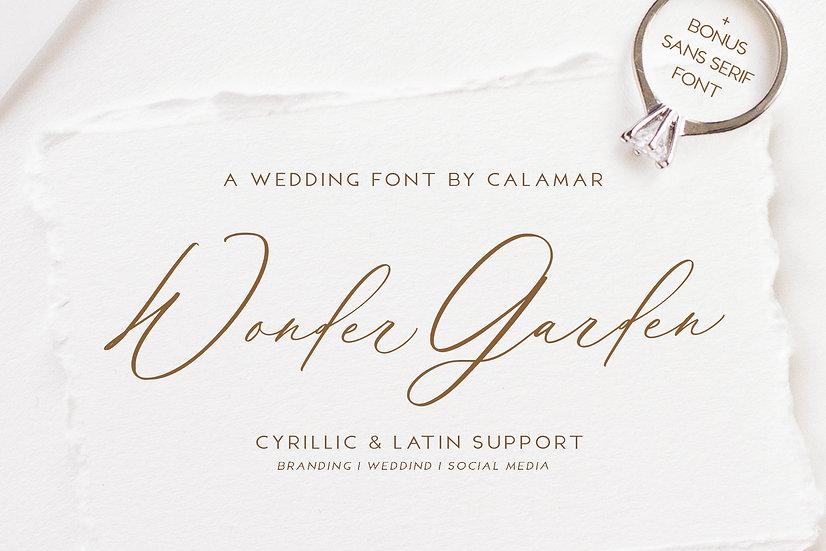 Wonder Garden | Latin&Cyrillic Font
