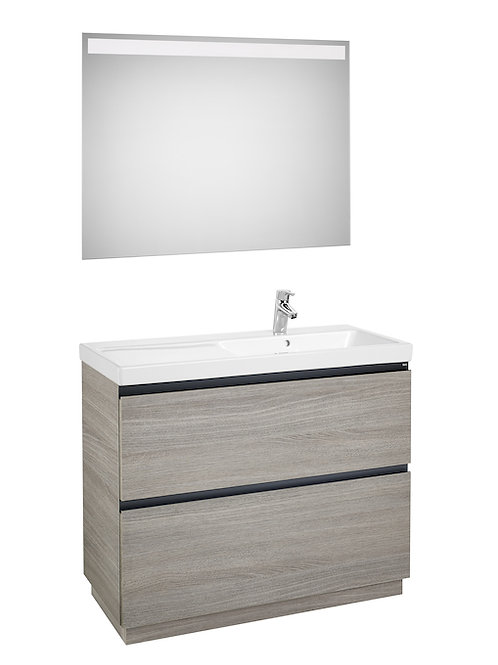 Lander 1000x460x865 Pack (basin on the right and LED mirror)