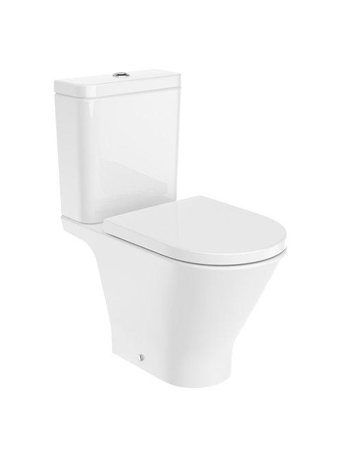The Gap 370x655x790 ROUND - Vitreous china close-coupled Rimless WC
