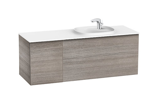 Beyond 1400x505x525 Unik (2 drawers, one door and SURFEX basin on the right)