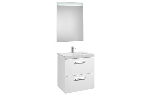Prisma 600x460x667 Pack (2 drawers, basin and LED mirror)