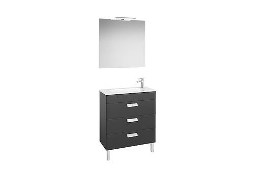 Debba 705x360x721 Pack (3 drawers, basin, mirror and LED spotlight)