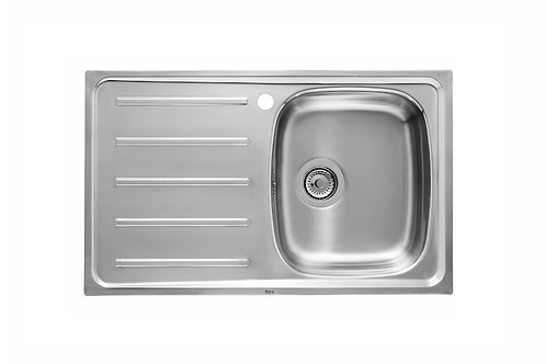 J 800x490x155 Stainless steel single bowl  and left drainer