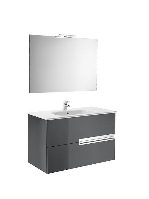 Victoria-N 1000x460x565 Pack ( basin, mirror and LED spotlight)