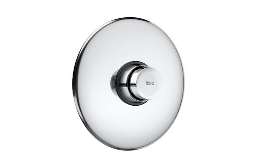 Instant Self-closing shut-off cock with round wall-plate