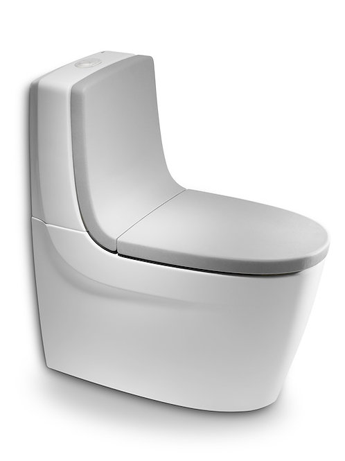 Khroma 390x700x800 Vitreous china close-coupled WC with dual outlet