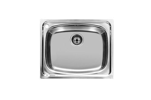 J 600x490x180 PLUS - Stainless steel single bowl