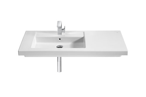 Prisma 1100x450x130 Wall-hung or vanity left hand