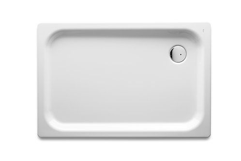 Blues XL 1200x800x65 Steel shower tray with anti-slip base and waste kit