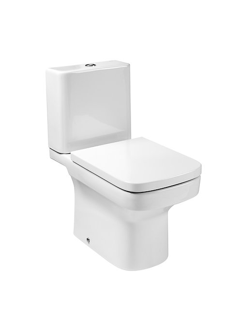 Dama 365x660x760 Vitreous china close-coupled WC with vertical outlet