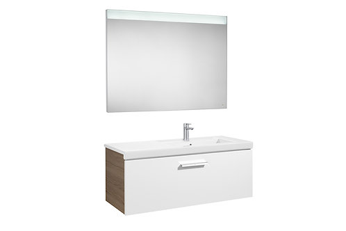 Prisma 1100x460x424 Pack (1 drawer, right hand basin and LED mirror)