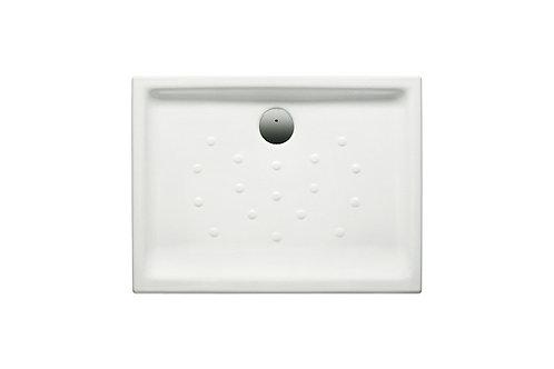 Malta 1000x700x80 Vitreous china shower tray with anti-slip base