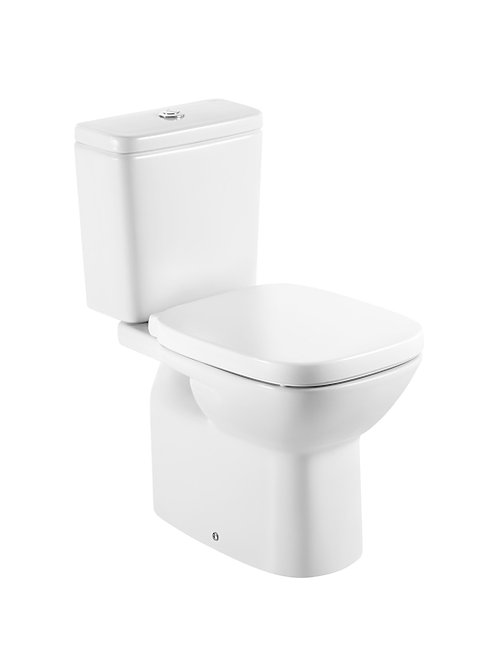 Debba 355x655x760 Vitreous china close-coupled WC with vertical outlet