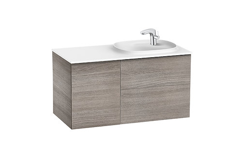 Beyond 1000x505x525 Unik (2 drawers, one door and SURFEX basin on the right)