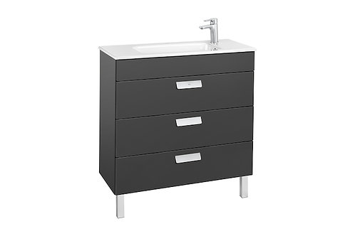 Debba 805x360x721 Unik (compact base unit with three drawers and basin)