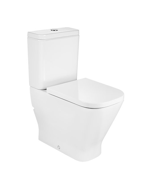 The Gap 365x650x830 Comfort height back to wall vitreous china close-coupled WC