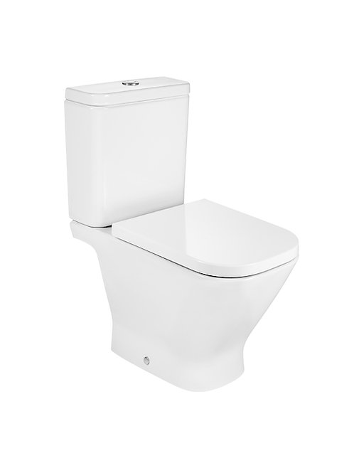 The Gap 365x650x790 Vitreous china close-coupled WC with horizontal outlet