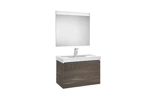 Stratum-N 900x500x622 Pack (2 drawers, basin and LED mirror)