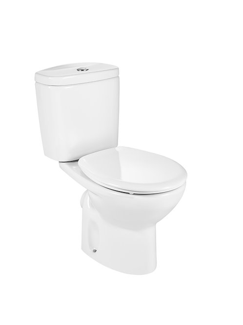 Victoria 370x665x780 Vitreous china close-coupled WC with horizontal outlet