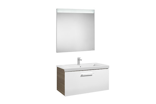 Prisma 800x460x424 Pack (1 drawer, basin and LED mirror)