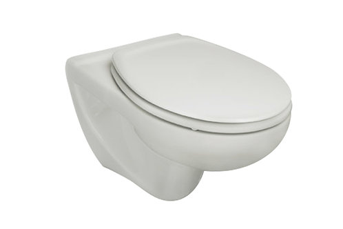 Victoria 355x525x395 Vitreous china wall-hung WC with horizontal outlet