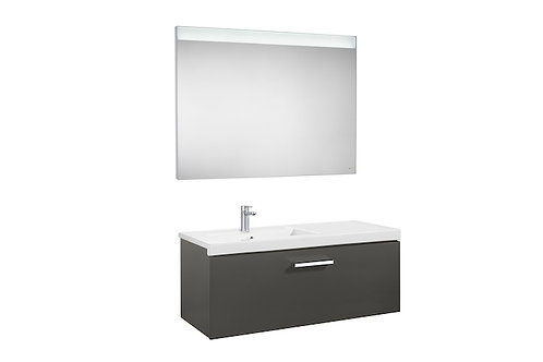 Prisma 1100x460x424 Pack (1 drawer, left hand basin and LED mirror)