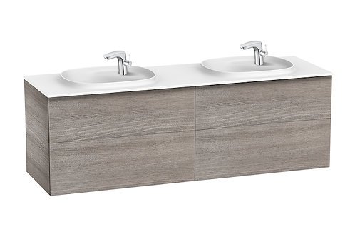Beyond 1600x505x525 Unik (4 drawers and double bowl SURFEX basin)