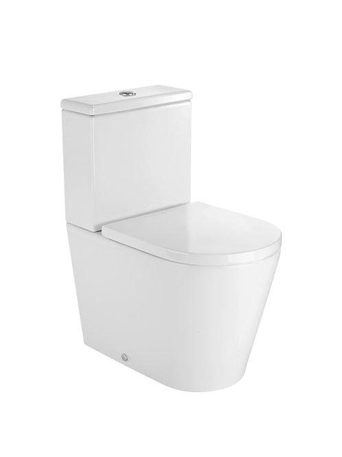 Inspira 370x600x760 ROUND - Compact back to wall vitreous china close-coupled WC