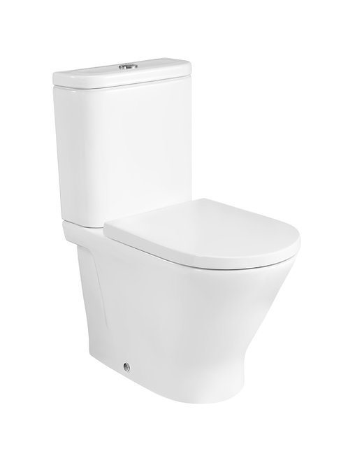 The Gap 370x600x790 ROUND - Back to wall vitreous china close-coupled Rimless WC