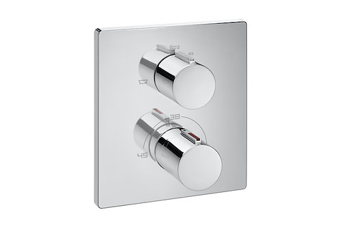 T-2000 Built-in thermostatic bath-shower mixer with diverter-flow