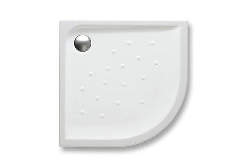 Malta 900x900x65 Corner vitreous china shower tray with anti-slip base