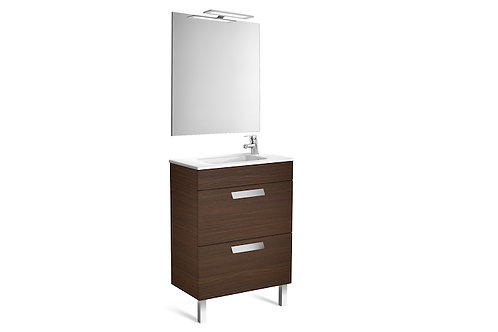 Debba 600x360x720 Pack (2 drawers, basin, mirror and LED spotlight)