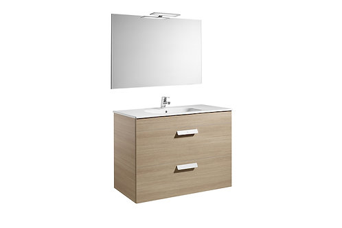 Debba 1000x460x720 Pack   2 drawers, basin, mirror and LED spotlight)
