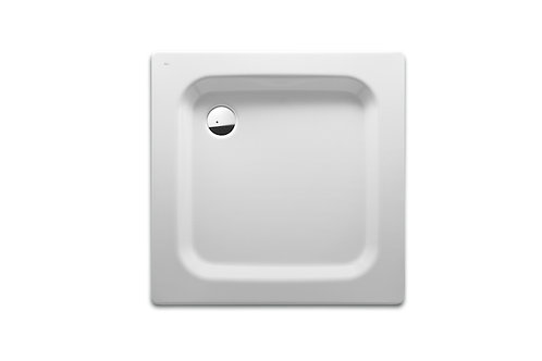 Blues XL 1000x1000x65 Steel shower tray with anti-slip base and waste kit