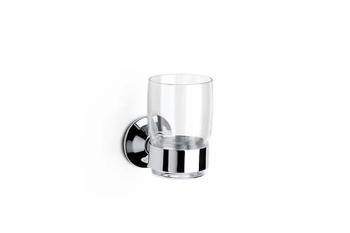 Hotels 64x64x107 Wall-mounted tumbler holder and glass